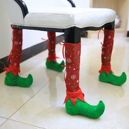 4 Pieces JIAQIYUE Chair Table Podotheca Christmas Decorations For Home Xmas Ornament Restaurant Decorated Shoes Party Supplies