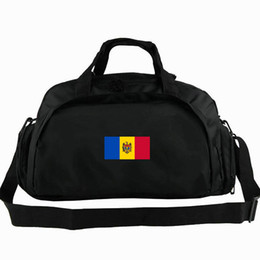 tote bags compartments UK - Moldova duffel bag MDA the Republic of country flag tote 2 way use backpack National banner luggage Trip shoulder duffle Sport sling pack
