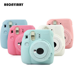 Discount wholesale instax camera - Hot Selling Instant Camera Bag Case for Instax Mini 9 Mini 8 8+ Case Classic Noctilucent Jelly Colors Camera Skin Cover