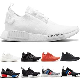 8f40e38a0b7be NMD R1 Primeknit Running Shoes Men Women Triple Black White OG Classic  Tri-Color Grey Oreo Japan Red Designer Sports Sneakers Size 36-45