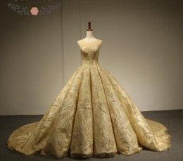 9e500a0b2ac Rose Moda Luxury Gold Glitter Mesh Wedding Ball Gown 2018 O Neck Bling  Photography Wedding Dresses Lace Up Back