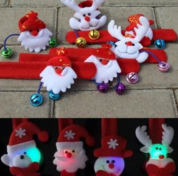 Glow Party Decorations Australia - LED childrens toy bracelet Christmas decorations Christmas gifts stalls gifts party toys snowman deer bracelets glow ring