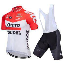 LOTTO 2018 Cycling Jersey Set Short Sleeve Summer MTB Cycling Clothing Pro  Team Ropa Ciclismo Cycling Jersey And Shorts Gel Pad 7a69b45cb