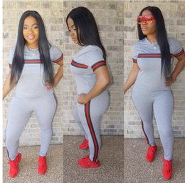 a70617e7e89 Summer new casual Fashion Love Pink T shirt+pant 2 piece Set for Women Plus  Size Casual Outfit Sweat Women s Two Piece Sets clothing