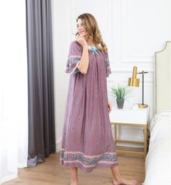 184c0667b0 100% Real Photos Women Long Loose casual cotton sleepwear soft night dress  Pajamas women s night gowns Robes RB285
