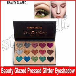 Silky eyeShadow online shopping - Beauty Glazed Colors Glitter Heart Shape Eyeshadow Palette Makeup Contour Metallic Silky Powder Professional Make up Eye Shadow