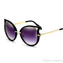 Discount modern sunglasses - 2018 NEW Modern Women Sunglasses Cat Eye Parent-Child Eyewear UV400 Advanced Lens Material Silver Color Frame Design 961