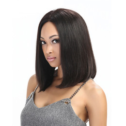 full lace wigs long bob NZ - short cut human hair lace front bob wigs for black women straight cut long bob wig full lace lob