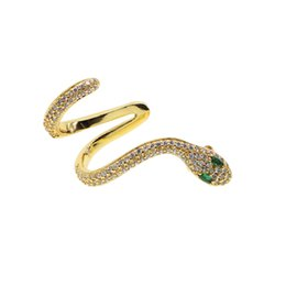 China 2018 New arrived 1 pcs Gothic Punk Snake Winding Cuff Earrings For Women Exaggerate Individuality Temptation Retro Silver gold Stud Earrings suppliers