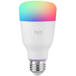Xiaomi yeelight yldp06yl rgb led lâmpada inteligente cor e27 / e26 lâmpada de controle de voz mi inteligente lâmpadas telefone luz de controle remoto em Promoção