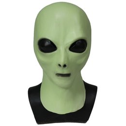Discount aliens props - High Quality Alien Luxury Movie Props Latex Mask For Men And Women Halloween Party Cosplay