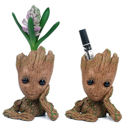 $enCountryForm.capitalKeyWord NZ - Tree Man Action Figure Antistress Toys Baby Groot Planter Flowerpot Guardians of Galaxy Grande Anime Figurines Puppet Doll