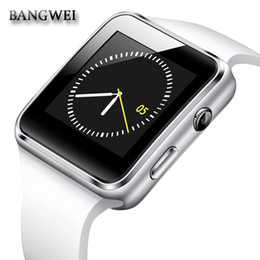 Bluetooth Smart Watch Sim Australia - BANGWEI New Smart Watch with Camera Touch Screen Clock Support SIM TF Card Bluetooth Smartwatch for iPhone Xiaomi Android Phone