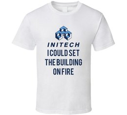 $enCountryForm.capitalKeyWord Australia - Office Space Initech I Could Set The Building On Fire T Shirt