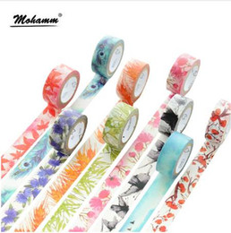 $enCountryForm.capitalKeyWord NZ - 7M Japanese Cute kawaii Colorful Flowers Leaf Masking Washi Tape Decorative Adhesive Tape Diy Scrapbooking School Office Supply 2016