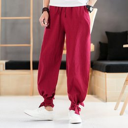 b5ed96ca3 Chinese harem pants online shopping - Men Cotton Loose Casual Pant Chinese  Style Streetwear Hip Hop