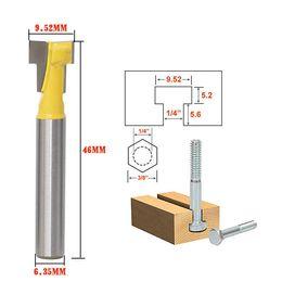 "$enCountryForm.capitalKeyWord NZ - High quality Woodworking DIY Tools 1 4"" Shank T-Slot Cutter Router Bit for 1 4"" Hex Bolt 1 4*3 8"