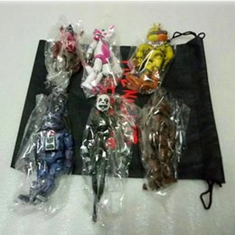 Discount movable doll joints - 6 Pcs  Set Lightening Movable Joints Five Nights At Freddy 'S Action Figure Toys Foxy Freddy Chica Pvc Model Dolls