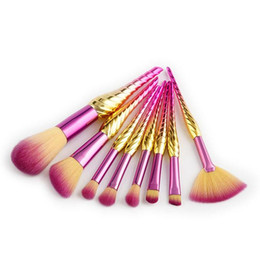 professional makeup brush wholesale UK - Professional 8pcs Makeup Brushes Powder Foundation Eye Shadow Blush make Up maquiagem Contour Cosmetics Tool Kits
