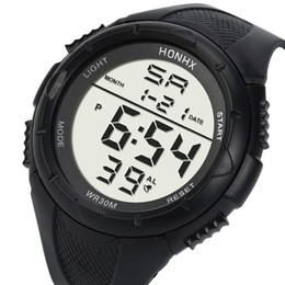 $enCountryForm.capitalKeyWord NZ - Mens LCD Digital Watches Men Boys Life Waterproof Rubber Sport Stopwatch Date Clock Wrist Watch Male Hours Relogio #LH