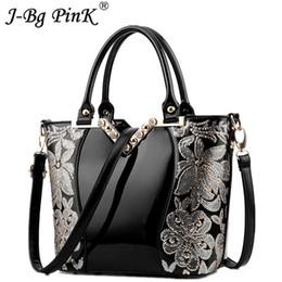 $enCountryForm.capitalKeyWord Canada - 2018 fashion Luxury Sequin Embroidery Women Bag Patent Leather Handbag Diamond Shoulder Messenger Bags New Famous Brand Designer