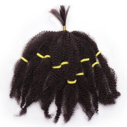 New Afro Kinky Hair Australia - NEW ARRIVAL Mongolian afro kinky curly hair bundles bulks synthetic hair extensions short blonde 10inch braided twist hair for black women
