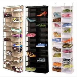 Обуви стойки хранения организатор держатель складной висит дверь шкаф 26 карманный бытовая мебель, Мебель для гостиной обуви стойку обуви кабинет на Распродаже