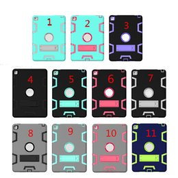 StickerS for ipad air online shopping - Shockproof Defender Case Armor Case For iPad for iPad Air for iPad Pro Colorful Protector Case With Sticker