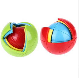 Chinese  3D Magic Intellect Puzzle Maze Ball Brain Teaser Game Educations Funny Colorful Ball Shape Puzzle for IQ Training Logical Toy manufacturers