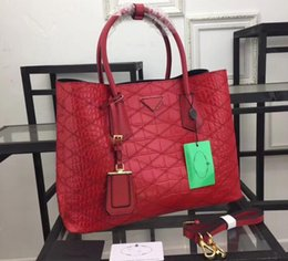 Discount red crocodile handbags - 1BG756 36cm Double Handles Alligator Leather Totes Bags,Crocodile Pattern Handbags,Nappa Lining Dust Bag Free Shipping