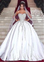Sweethearts Ball Australia - Custom Luxury 2018 Ball Gown Wedding Dresses Beaded Crystals Backless Sweetheart Wedding Gowns Sexy Backless Arabic Dubai New Design