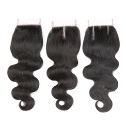 $enCountryForm.capitalKeyWord UK - Body Wave Human Hair Weaves 4x4 Closure Unprocessed Peruvian Human Hair Extensions Good Cheap Mink Peruvian Body Wave Closure