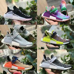 buy popular 34fec 53b78 Adidas human race 2018 new pharrell williams raza humana nmd hombres mujer  deportes Zapatillas de running negro blanco gris nmds primeknit PK corredor  XR1 ...