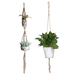 Chinese  2017 Macrame Plant Hanger Pot Holder Polypropylene Fiber Rope Handmade Garden Home Decoration Flower Plant Display manufacturers