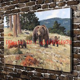 $enCountryForm.capitalKeyWord NZ - Natural Scenery Forest Animals Bear,Canvas Prints Wall Art Oil Painting Home Decor 24x36 20x30 16x24 12x18 (Unframed Framed)