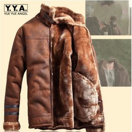 $enCountryForm.capitalKeyWord Canada - 2018 Winter Fashion Mens Stand Collar Coats High Quality Thick Fur Lining Jackets Suede Leather Warm Winter Jacket Vintage Coat