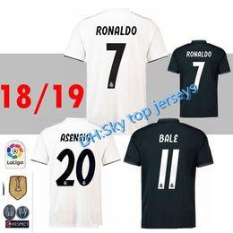 Ronaldo Grey Jersey Canada - 2018 Real Madrid home Away 3rd soccer jersey 18 19 Real Madrid RONALDO BENZEMA BALE SERGIO RAMOS MORATA ISCO NAVAS ASENSIO Jerseys