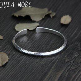 13g Kleine Antike Silber Armreif Frauen 925 Silber Manschette Armreifen Einfaches Design Metall Dünne Armreifen Armbänder Für Unisex joyeria