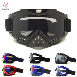 atv goggles blue NZ - Motorcycle Motocross Goggles Glasses for Helmet Racing Dirt Bike ATV Goggles Clear Tinted Lens Off Road Adjustable