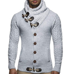 b2e7a5a6a57b ThinnesT warmesT cloThing online shopping - Winter Warm Sweater Men Sweater  with Button Casual Long Sleeve Find Similar