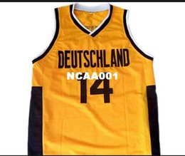 Men Vintage  14 DIRK NOWITZKI TEAM DEUTSCHLAND GERMANY College jersey Size  S-4XL or custom any name or number jersey 8249d502f