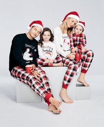 Match Clothing Mom Baby NZ - New 2017 Christmas Family Matching Outfits Pajamas Sleepwear Set Family Christmas Clothes Set For Dad Mom Kids Baby Clothing