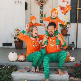 $enCountryForm.capitalKeyWord Canada - Kids Baby Women Men Pumpkin 2 Piece Suit Long Sleeve T shirt + Pants Outifts Pajamas Infant Rompers Halloween family parent-child Clothing
