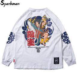 $enCountryForm.capitalKeyWord Canada - Hip Hop Sweatshirt Streetwear Harajuku Japanese Warrior Print Long Sleeve Thin Pullover Hoodie Sweatshirt Men 2018 Autumn Casual