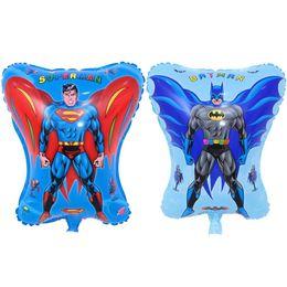 Mix Cartoon Hero Toy Helium Balloon Superman And Batman Child Birthday Party Decorations Scene Arrangement