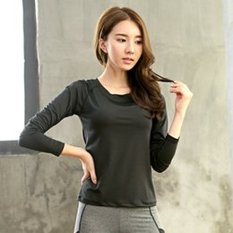 $enCountryForm.capitalKeyWord Australia - Black Large Plus size XXXL long Sleeve Sports Yoga shirt Runningsuit Women Fitness T-Shirts Ladies Sportswear Quick Dry Clothing