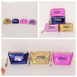 Wholesale PINK Laser Cosmetic Bag Waterproof Makeup Bags Styles Women Laser Flash Diamond Leather Bags OOA5106