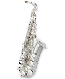 Saxophone plating online shopping - Brand New Silver Plated SELMER Alto Saxophone SA II Series Musical Instrument Alto Saxophone Performance with Case Accessories Free