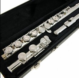 Discount closed hole flutes - US Armstrong Flute Model 104 Nickel Silver Plated 16 Holes C Key Closed Brand New Student Flute Copy for Beginner