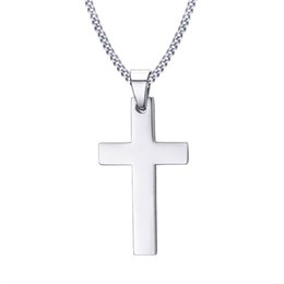 9abbfae18eb2 Jesus Cross Necklace para Hombres Gold Black Silver Color Good Quality  Stainless Steel Christian Crucifix Colgante Neck Lace Male Prayer Jewelry